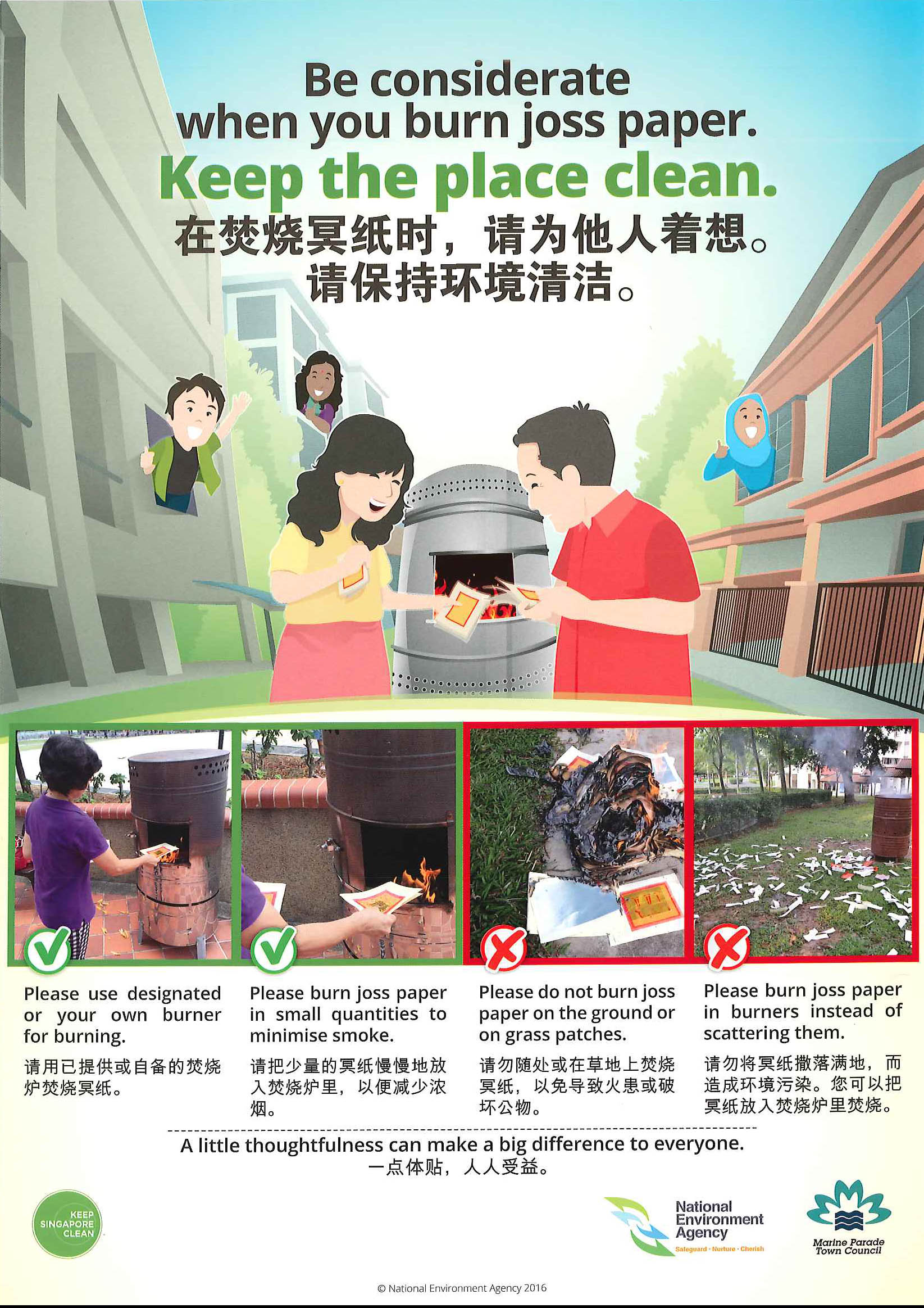 PRACTISE RESPONSIBLE JOSS PAPER BURNING