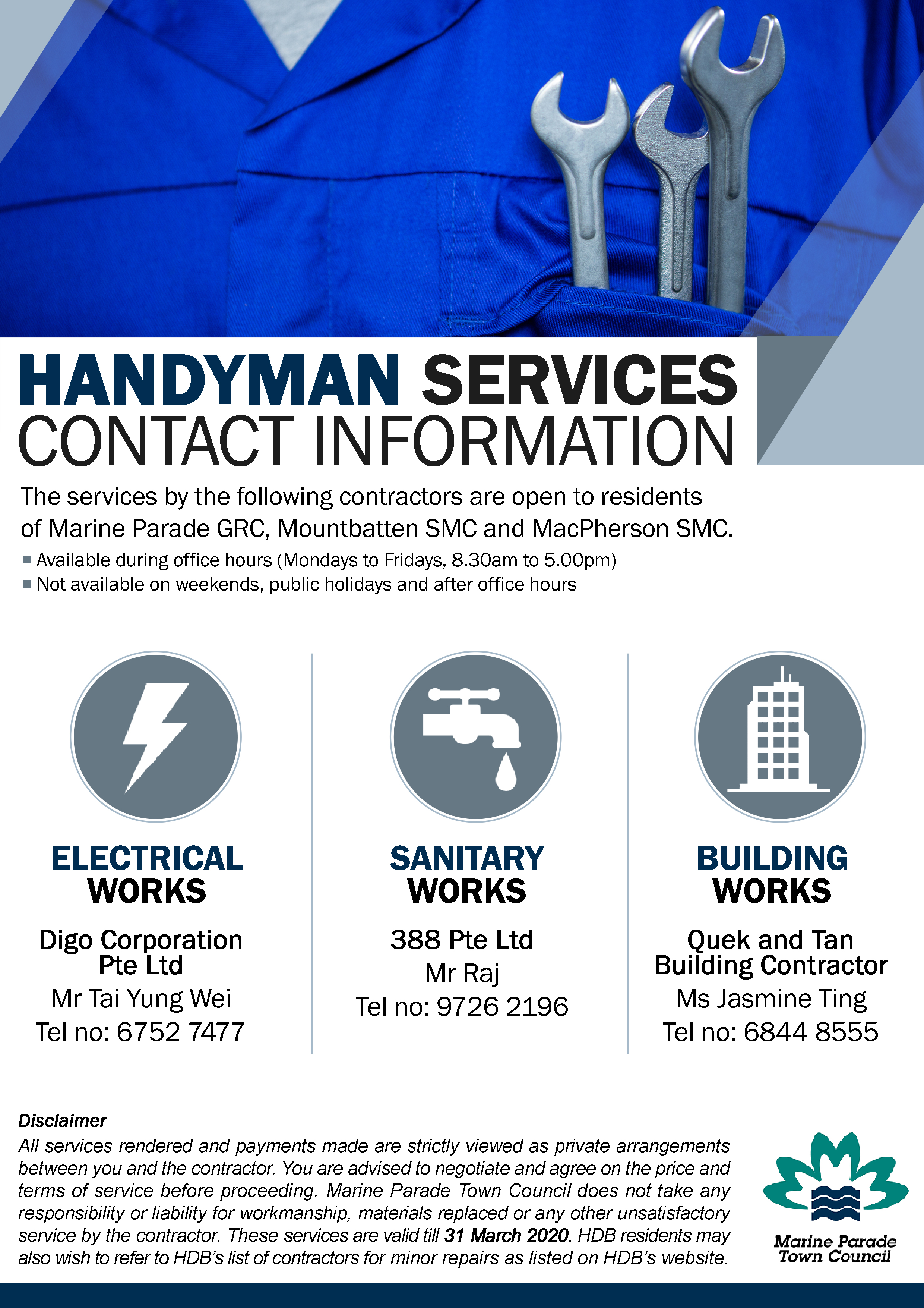 Handyman Services - Contact Information