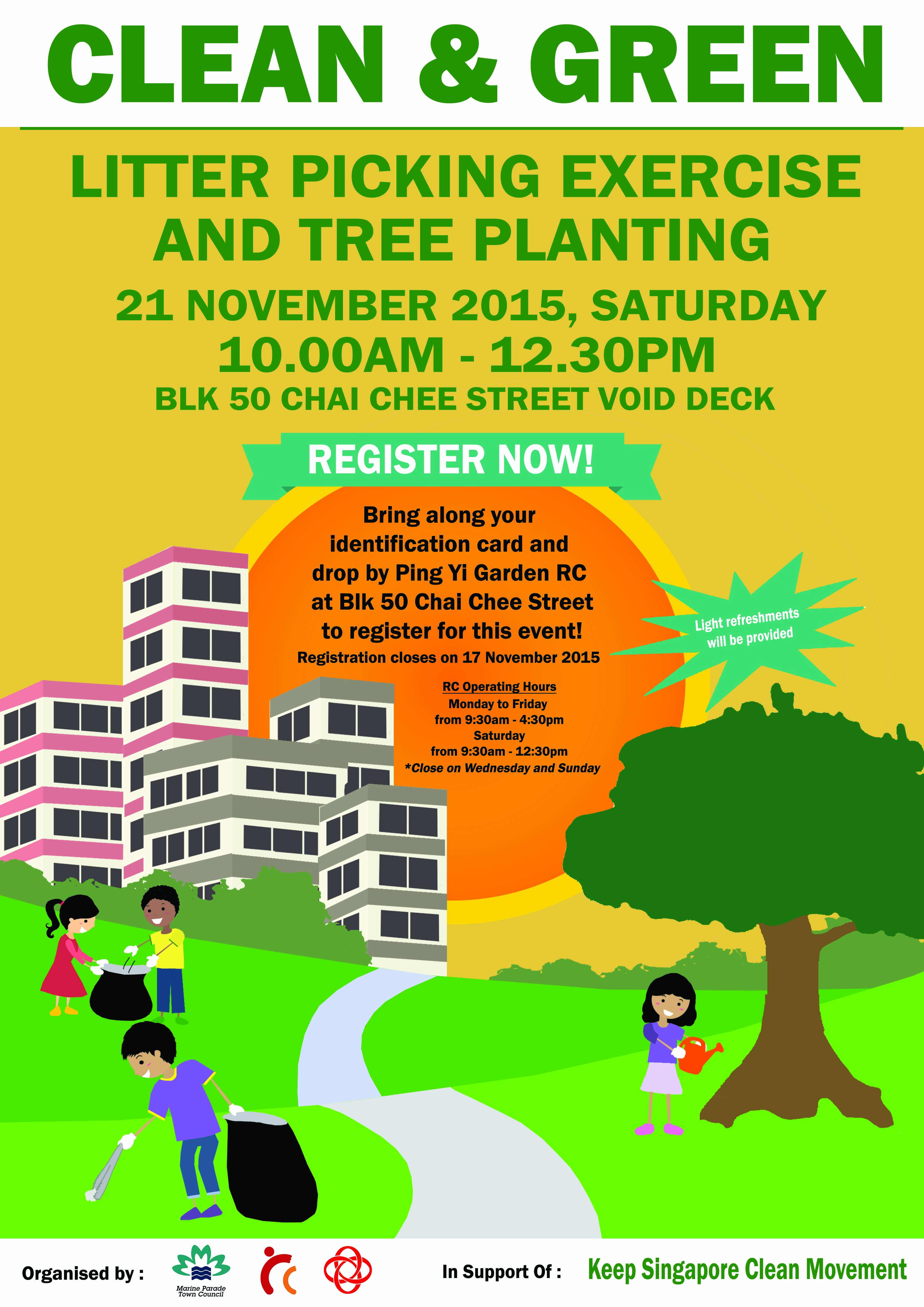 Clean & Green Litter Picking Exercise and Tree Planting